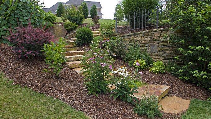 stone steps on the hillside