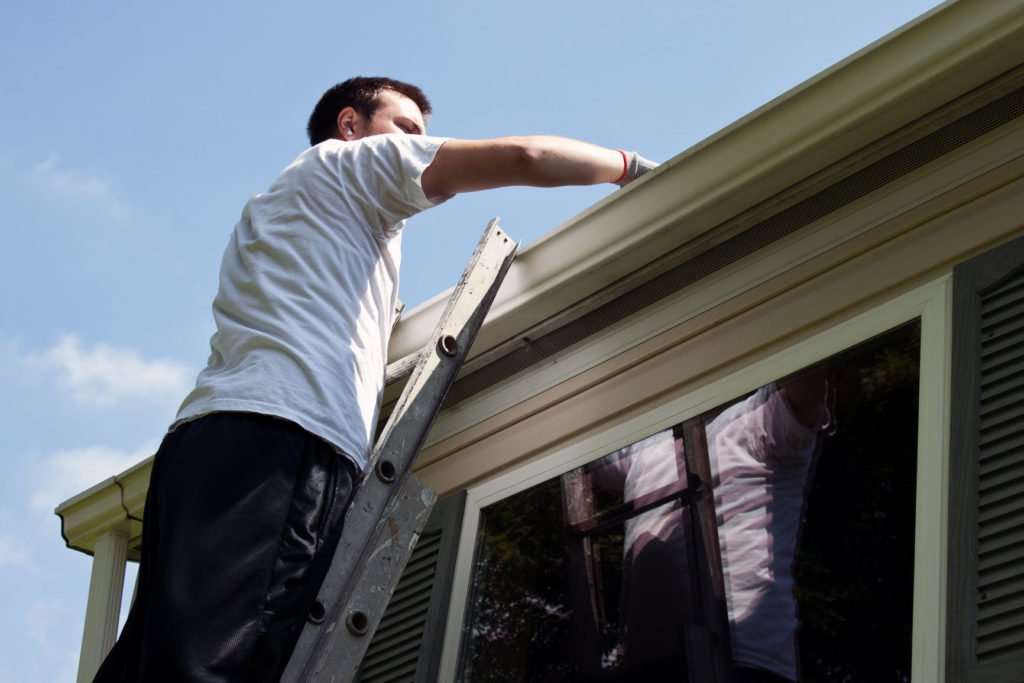 We clean gutters and Power Washing Fences, Decks, Driveways
