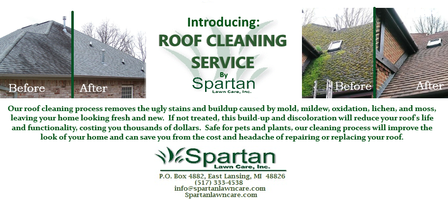 Roof Cleaning Flier Spartan Lawn Care